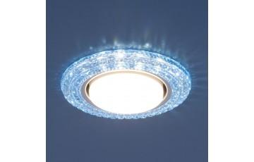 Встраиваемый светильник Elektrostandard 3030 GX53 BL синий 4690389083334