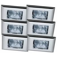 Уличный светильник (в комплекте 6 шт.) Paulmann Premium Quadro 99506