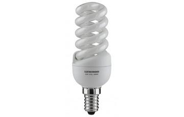 Лампа энергосберегающая SMT E14 13W 2700К мини-спираль желтый 4607176190175