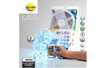 38991 Светодиодная лента влагозащищенная 3M RGB 21,6W Globo LED Band