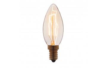 Лампа накаливания E14 25W свеча прозрачная 3525