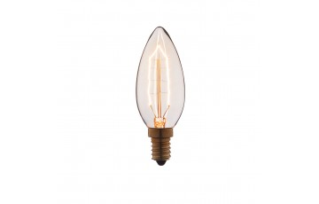 Лампа накаливания E14 40W свеча прозрачная 3540-G