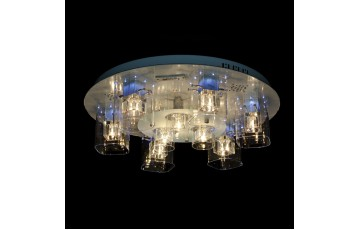 1600 CR/6+3 Галогенная люстра с LED подсветкой Profit Light хром