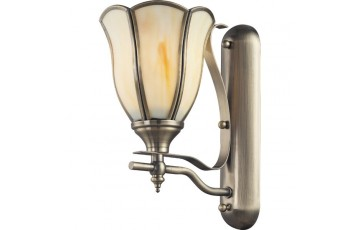 662-01-51 Настенное бра N-Light antique brass+tiffany