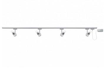 96860 Набор шинных светильников U-RAIL 230V Ring ESL 4x11W GU10 230V титан (L-2,2m)