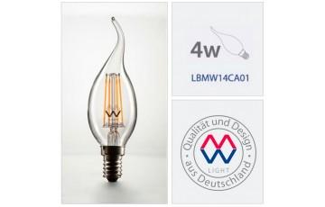 Лампочка светодиодная LBMW14CA01 свеча на ветру Е14 4Вт