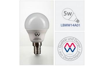 Лампочка светодиодная LBMW14A01 Е14 5 Вт