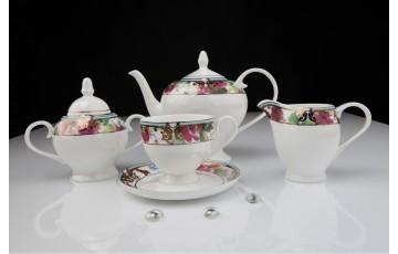 Чайный сервиз Цветущий сад 125 из 15 предметов