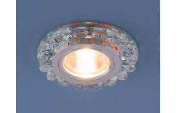 Точечный светодиодный светильник с хрусталем 6036 MR16 СL прозрачный