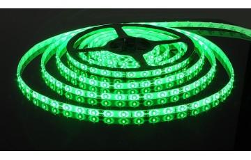 5м, Светодиодная лента 60Led 4,8W IP65 зеленый 3528/60