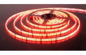 5м, Светодиодная лента 60Led 4,8W IP65 красный 3528/60