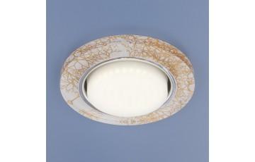 1062 GX53 WH/GD Встраиваемый светильник Elektrostandard белый/золото
