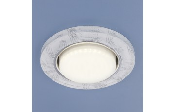 1062 GX53 WH/SL Встраиваемый светильник Elektrostandard белый/серебро