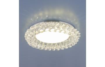 1063 GX53 CH/CL  Встраиваемый светильник Elektrostandard хром/прозрачный