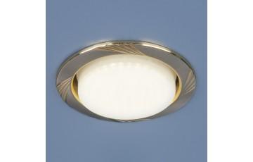 1067 GX53 SN/GD Встраиваемый светильник Elektrostandard сатин никель/золото