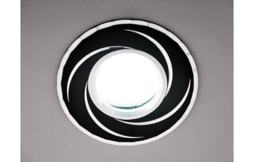 2002 MR16 BK/SL Встраиваемый светильник Elektrostandard  черный/серебро