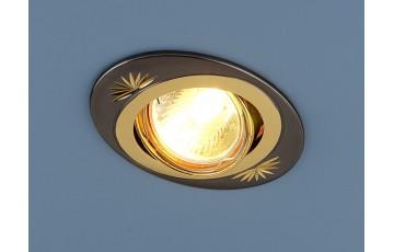 856 CF  MR16 GU/GD Встраиваемый светильник Elektrostandard черный/золото