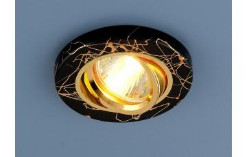 2050 MR16 BK/GD Встраиваемый светильник Elektrostandard черный/золото