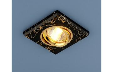 2080 MR16 BK/GD  Встраиваемый светильник  Elektrostandard черный/золото