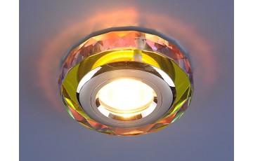 1056 Clear/Multi Встраиваемый светильник Elektrostandard  зеркальный/золотой