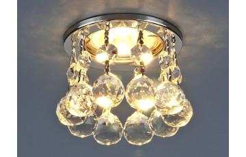 2051 MR16 CH/CL Встраиваемый светильник Elektrostandard с хрусталем хром/прозрачный