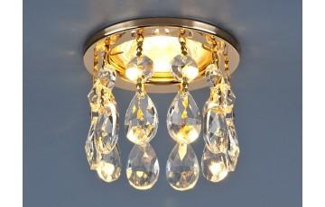2055 MR16 GD/CL Встраиваемый светильник Elektrostandard с хрусталем золото/прозрачный