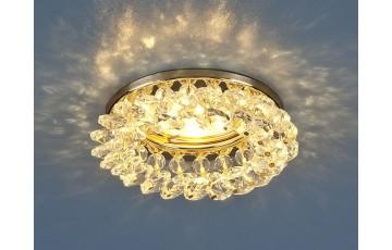 206 MR16 GD/CL Встраиваемый светильник с хрусталем Elektrostandard золото/прозрачный