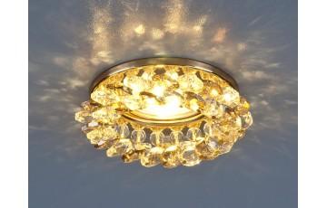 206 MR16 GD/GC Встраиваемый светильник с хрусталем Elektrostandard золото/тонированный