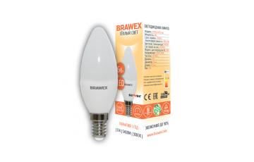 0707G-B35S-7L Светодиодная лампа BRAWEX SENSE свеча 7Вт 3000К B35 Е14