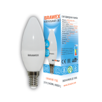 0707G-B35S-7N Светодиодная лампа BRAWEX SENSE свеча 7Вт 4000К B35 Е14