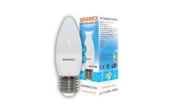 0707E-B35S-6N Светодиодная лампа BRAWEX SENSE свеча 6Вт 4000К B35 Е27
