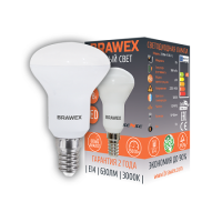 2906A-R50S-7L Светодиодная зеркальная лампа BRAWEX SENSE 7Вт 3000К R50 Е14