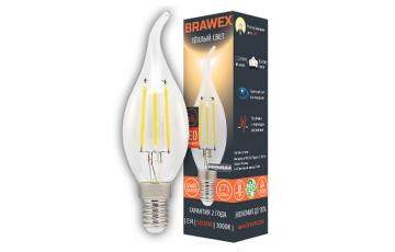 0707Q-B35F-5L Светодиодная лампа BRAWEX свеча на ветру B35 5W 3000K E14
