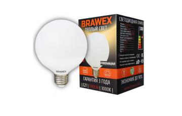 2207A-G95-12L Светодиодная лампа BRAWEX шар 12Вт 3000К G95 Е27