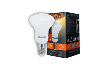 2906A-R50-6L Светодиодная зеркальная лампа BRAWEX 6Вт 3000К R50 Е14
