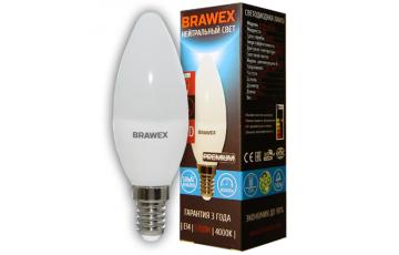 0713A-B35-6N DIM Светодиодная лампа BRAWEX свеча 6Вт 4000К B35 Е14 диммируемая