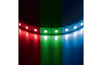 400040 Лента светодиодная цветная (от 1 метра) 12V 7.2W/m 30LED/m 10-12lm/LED IP20 RGB  5050LED