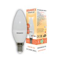0707G-B35-7L Лампа светодиодная B35 7W 220-240V 3000K E14 IC Brawex