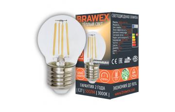 2007A-G45F-5L Лампа светодиодная G45 5W 220-240V 3000K E27 IC Brawex