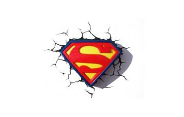 1CSC20002328 Пробивной 3D светильник 3DLightFx Superman Logo