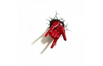 1CSC20002287 Пробивной 3D светильник 3DLightFx Spiderman Hand