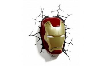1CSC20002288 Пробивной 3D светильник 3DLightFx Classic Iron Man Mask