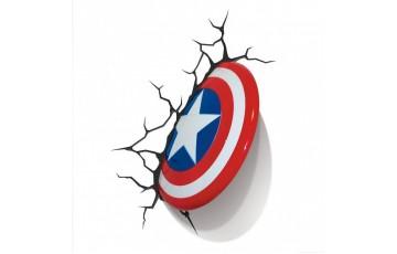 1CSC20002291 Пробивной 3D светильник 3DLightFx Captain America Shield