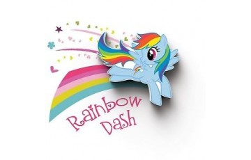 atr-000459 Детский 3D светильник 3DLightFx MLP Mini Rainbow Dash