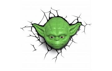 atr-000457 Пробивной 3D светильник 3DLightFx Star Wars Yoda Face