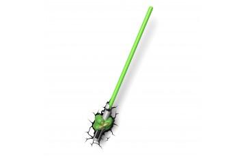 atr-000458 Пробивной 3D светильник 3DLightFx Star Wars Yoda Saber