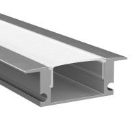 409529 Профиль с прямоугольным рассеивателем для светодиодных лент 2м Lightstar PROFILED
