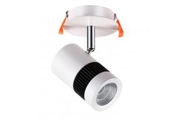 357458 NT18 000 матовый белый Встраиваемый светильник IP20 COB 12W 100-240V SOLO