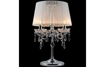 2045/3T Настольная лампа Eurosvet хром/белый