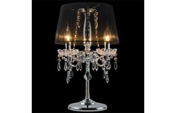 2045/3T Настольная лампа Eurosvet хром/черный